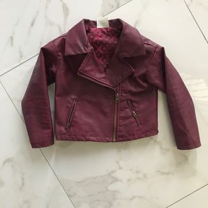 Other - Fake leather kids jacket